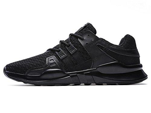 IIIIS-F Donna Scarpe da Ginnastica Corsa Sportive Running Sneakers Fitness Interior Casual all'Aperto nero