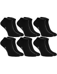 12 paires de chaussettes courtes, noires ou blanches, fabriquées en Europe, de coton, beaucoup de tailles 36 - 46, la plus haute qualité, femmes et hommes by Rainbow Socks