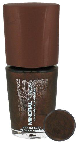 Minerale Fusion Nail Lacquer, Brownstone, 0.33fl oz