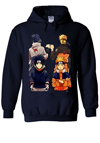NisabellaLTD Naruto Anime Japanese Manga Anime Cool Team Navy Men Women Unisex Hooded Sweatshirt Hoodie-L