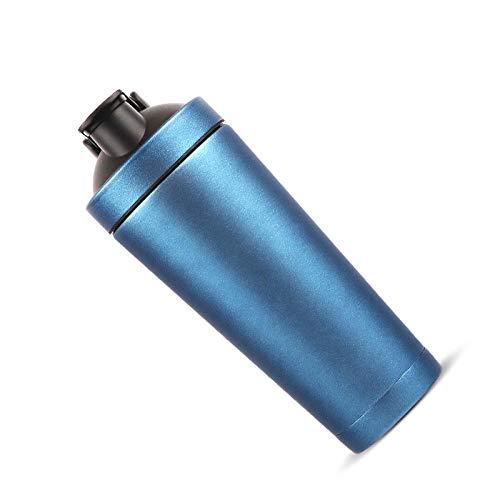 Weilyjr Edelstahl-Isolierschüttelbecher Outdoor-Sport tragbar einfach zu entfernen Langzeit-Isolierdichtung auslaufsicher wiederverwendbar - blau_500ml