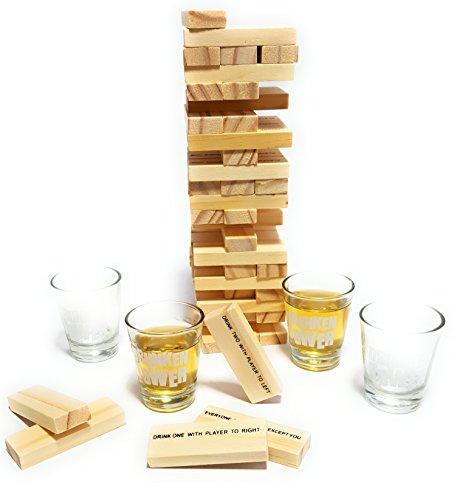 Bambelaa-Trinkspiel-Partyspiel-Wackelturm-Drunken-Tower-inklusive-vier-Trinkglser-ca-4cl-Englische-Version