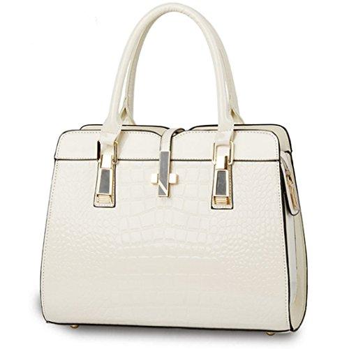 Borsa della borsa del hobo del cuoio del Faux della borsa della borsa della borsa della borsa delle donne Bianca
