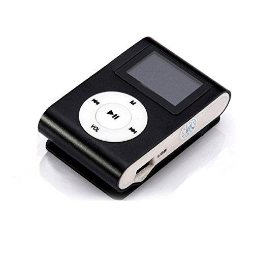 Amison USB Mini Clip MP3-Player LCD-Bildschirm Unterstützung 32GB Mikro-Sd TF Karten (Schwarz)