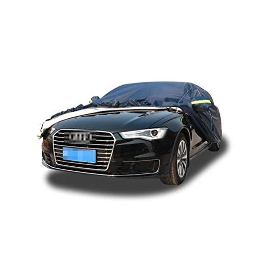 (per Audi) Copriauto da esterno nero Tessuto in stoffa Oxford universale quattro stagioni (sole/neve/polvere/graffi) personalizzabile (Color : S1)