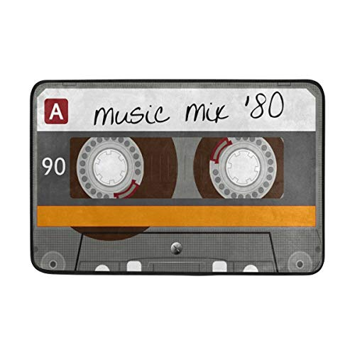 Alfombra área 23.6x15.7 Pulgadas Vintage Cassette