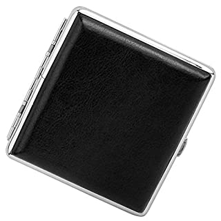 XIYAO Stainless Steel Cigarette Case Box Holder Storage Case Gift Black