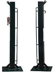 Softee Equipment 0012360Spiel feste Pfosten, quadratisch, Weiß, S