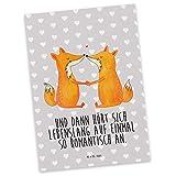 Mr. & Mrs. Panda Postkarte Füchse Liebe - Fuchs, Füchse, Fox, Liebe, Liebespaar, Paar, Partner, Freundin, Freund, Ehe, Verlobte, Ehemann, Ehefrau, Liebesbeweis Postkarte, Geschenkkarte, Grußkarte, Karte, Einladung, Ansichtskarte, Sprüche