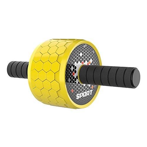 Leking Professional Honeycomb ab Wheel mit Knieschoner perfekt für Home Gym gelb