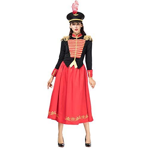 SHENTIANWEI Halloween-Nussknacker mit vier Königreiche Clara Knight Costume Cosplay (Color : Red, Size : M)