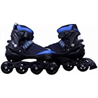 Techno Buzz Deal Inline Adjustable Skates Size All PU Aluminium -Alloy Strong with LED Flash Light on One Wheels (Multicolour)