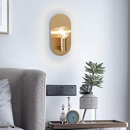 XUEBAOBAO Einfache Moderne kreative Metall Stil Wohnzimmer tv Wand Schlafzimmer nachttischlampe Wandleuchte Gang Veranda Studie reinem Kupfer Hardware Wandleuchte Halterung licht -
