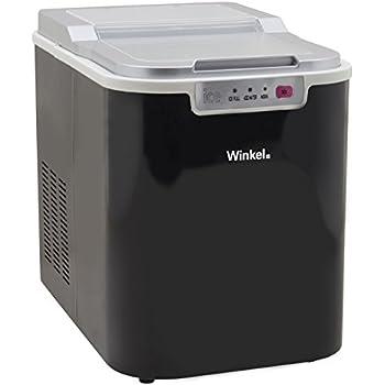 Winkel KW12 Eiswürfelmaschine/ 12 kg Eiswürfel pro Tag / Sichtfenster / 2,2 Liter Wassertank / Wasserstandsanzeige / schwarz