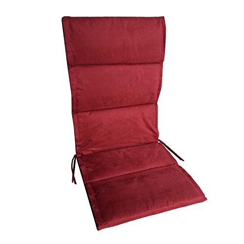 6 Auflagen für Hochlehner im günstigen Set in Rot, Bordeaux