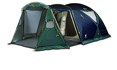 Bertoni Planet 4 Tenda da Campeggio, Blu/Verde Scuro