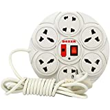 Boxer 360 Extension Board 6 Amp 8 Plug Point with Master Switch, LED Indicator, Cord (10.5 feet) - White