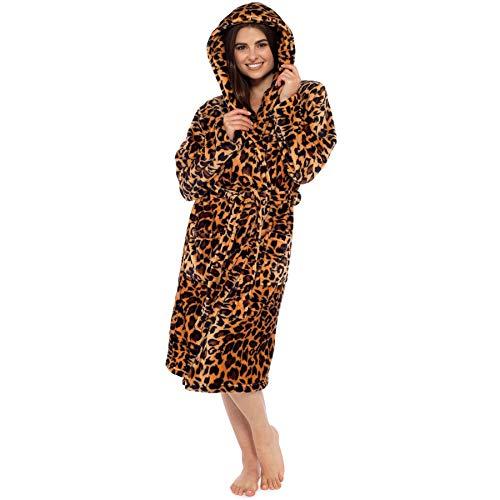 Bata Estampado Leopardo Mujer Estampado Animales