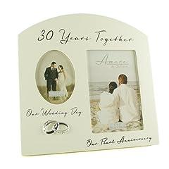 Idea Regalo - Pearl 30° anniversario di matrimonio, Cornice Multi foto ricordo