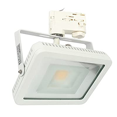 CLE LED Floodlight Stromschienstrahler weiß 30W 3500K neutralweiß 3-Ph.-Adapter