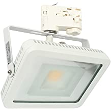CLE LED Floodlight Stromschienstrahler weiß 30W 3500K 2600lm neutralweiß 3 Phasen Adapter