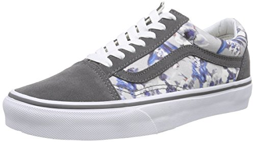 Vans Old Skool, Unisex-Erwachsene Sneakers Grau (blurred Floral/pewter/true White)