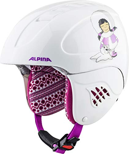 ALPINA Kinder Carat Skihelm, Eskimo-Girl, 51-55 cm Alpine Girl