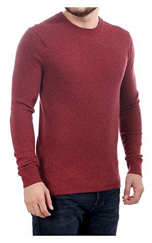 Scotch & Soda Herren Lambs Wool Pullover, Rot (Boho Brick Melange 0780), Large -