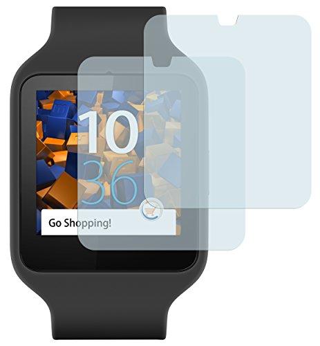 mumbi Schutzfolie kompatibel mit Sony SmartWatch 3 Folie klar, Bildschirmschutzfolie (2x)