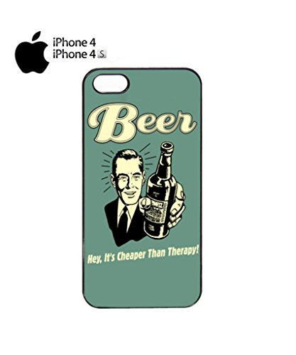 Beer Cheaper Than Therapy Vintage Cell Phone Case Cover iPhone 5c Black Schwarz