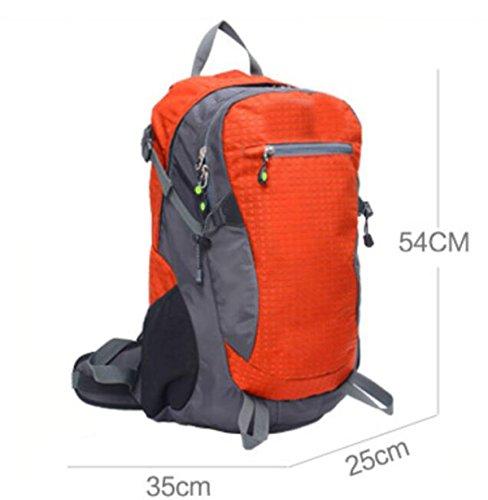 Sport-im Freienpaket-heller Gewicht-Verlust-Bergsteigen-Beutel-gehende Doppelte Schulter-Beutel,Red FruitGreen