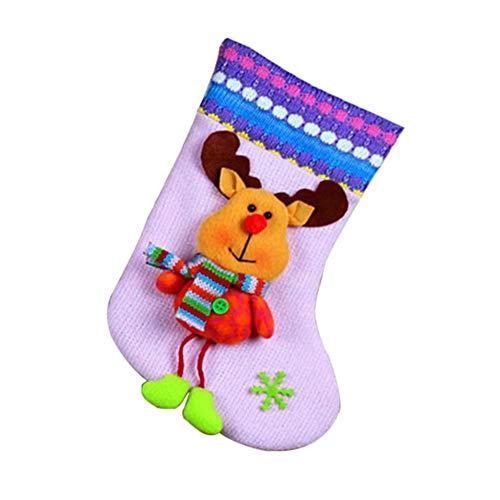 Oshide Weihnachtsmann Christmas Eve Hängende Socken Weihnachtsstrümpfe & Halter Socken Weihnachtsbaum Ornament Stiefel Weihnachtsdekoration
