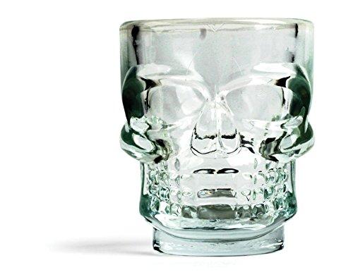 Kikkerland GL06 Skull - Para chupito (4 unidades)