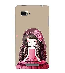 EPICCASE Cutie Doll Pink Mobile Back Case Cover For Lenovo Vibe Z K910 (Designer Case)