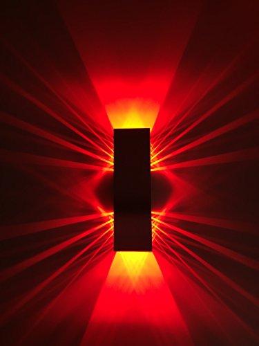 SpiceLED-Wandleuchte ShineLED-6 2x3W Wandlampe Leuchte LED Effekt, Rot