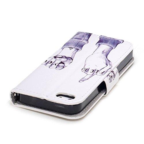 Custodia iPhone 5S, iPhone SE Cover Wallet, SainCat Custodia in Pelle Flip Cover per iPhone 5/5S/SE, Ultra Sottile Anti-Scratch Book Style Custodia Morbida Cover Protettiva Caso PU Leather Custodia Li Dito FUCK