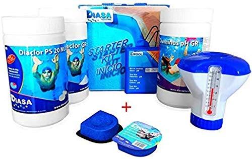 well2wellness Pool Starterset Wasserpflege 5in1 Plus 2 x Flockmittel 'DPool Gel' 90g - Komplette 90 Tabletten