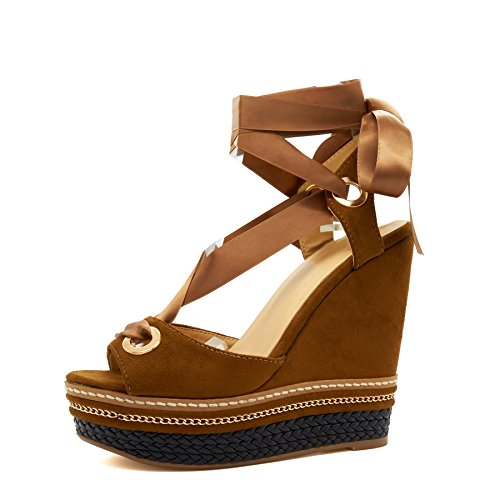 London Footwear ,  Damen Peep Toes Hautfarben