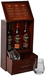Glenfiddich Family Distillers Collection with 2 Glasses Gift Pack, 3 x 10 cl by Glenfiddich