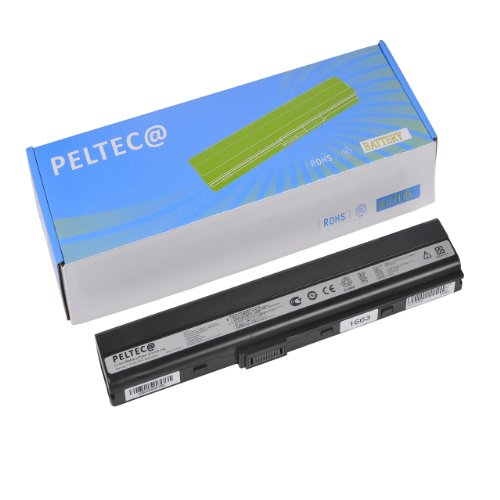 PELTEC@ Premium - Batteria per notebook/laptop ASUS A31-K42, A32-K42, A31-K52, A32-K52, A41-K52, A42-K52, 70-NXM1B2200, Asus A40J A42 A52 A62 B53F85 F86 K42 K52 K62 N82 P42 P52 P62 P82 Serie, Asus Pro51 Pro5L Pro67 Pro8C X42 X52 X51 X67 X8C A31-K42, A32-K42, 4400 mAh