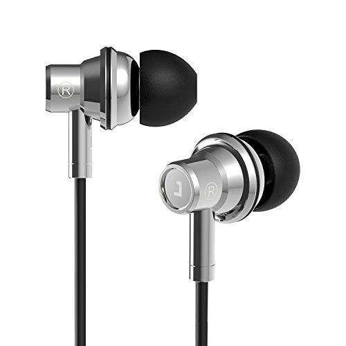 Jayfi JEB-101 Bass HIFI Stereo In-Ear Kopfhörer Geräuschisolierung Ohrstöpsel Ohrhörer aus Gesundem Metall mit Mikrofon Schwarz