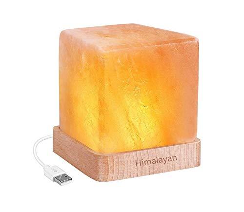 3D StimmungslichterSalz lampe kristall salz lampe mode schlafzimmer studie schreibtischlampe USB nachtlicht -