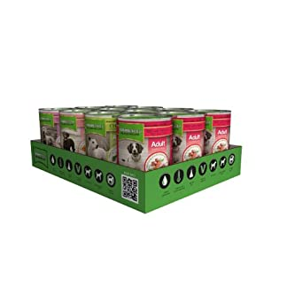 nature's menu dog food, multi-flavored, 400g cans (pack of 12) Nature's Menu Dog Food, Multi-Flavored, 400g Cans (Pack of 12) 41imiakMmYL