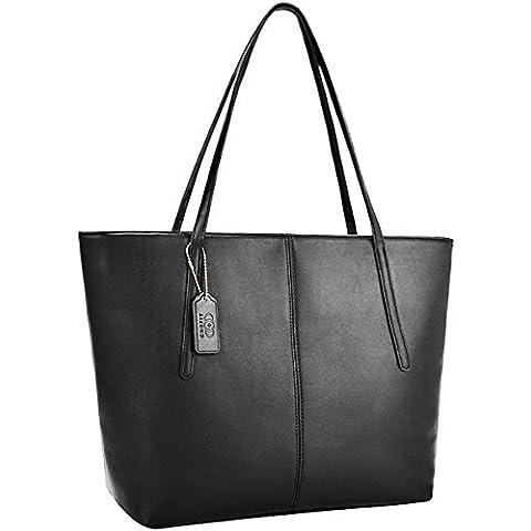 Coofit Borse Donna Tote Bag in Pelle di Borsa a Spalla Nero