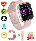 Impermeabile Bluetooth Smart Bracciale - Smartwatch per uomo Donna Sport Fitness Tracker per sistema Android e iOS Smartphone chiamata e promemoria del messaggio Pedometro