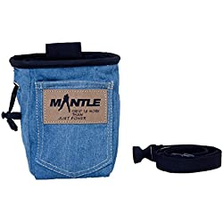 Mantle Kletterzubehör Chalk Bag - Bolsa de magnesio para Escalada, Talla One Size