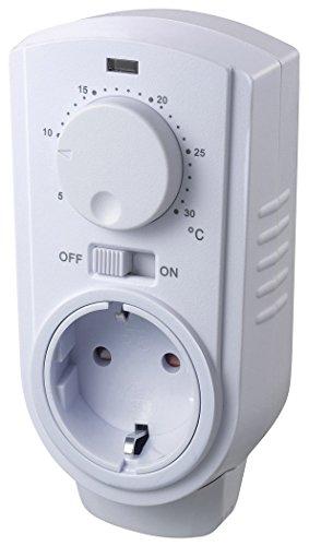 Analoges Steckdosen-Thermostat 230V mit Drehregler I max. 3500W I EIN/AUS/AUTO I Für Heiz und Kühlgeräte wie Infrarot-Heizung Ventilator