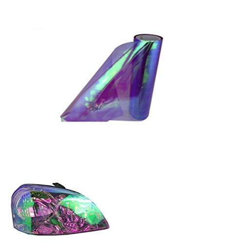 ABy 200cm x 30cm Scheinwerfer Folie Tönungsfolie Aufkleber für Auto Scheinwerfer Rückleuchten Blinker Nebelscheinwerfer(Lila)