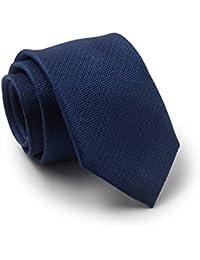 Savile Row Men's Navy Textured Skinny Silk Tie