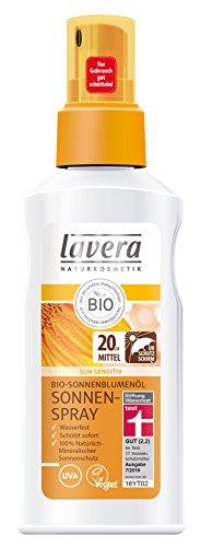 lavera Sun Sonnenspray LSF 20 UV Schutz ∙ Mineralischer Sonnenschutz ∙ Wasserfest ∙ Schützt sofort ∙ vegan ✔ Bio Pflanzenwirkstoffe ✔ Naturkosmetik ✔ Natural & innovative ✔ Sonnenschutz 1er Pack (1 x 125 ml)